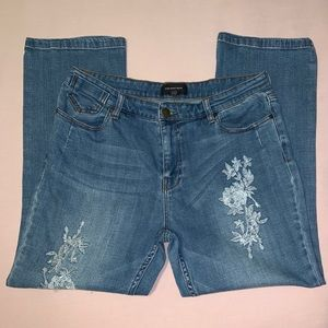 Who What Wear Floral Jeans